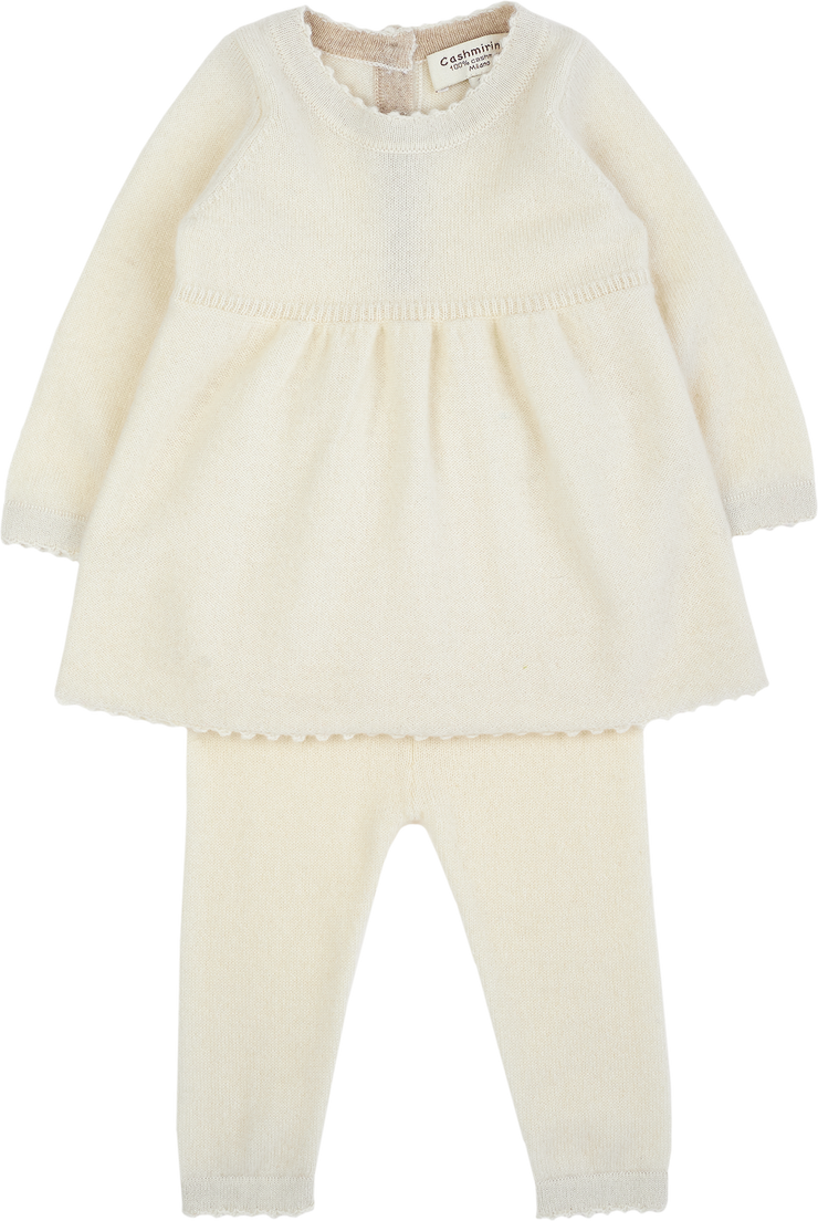 Baby Girl - Cashmere Baby Doll Top With Matching Leggings