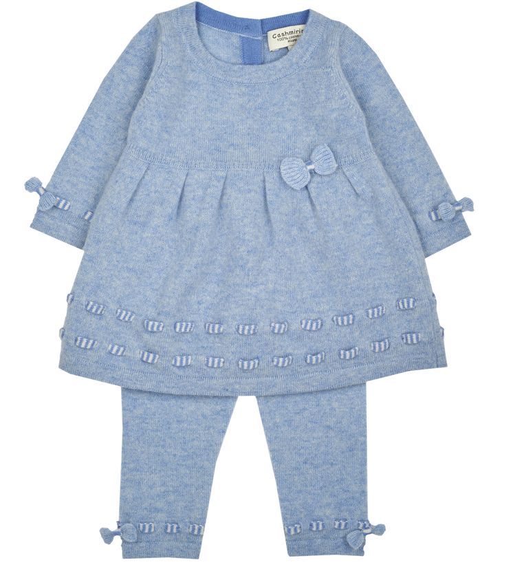 Baby Girl - 100% CashmereBaby Doll Top With Bow Detail And Leggings Set
