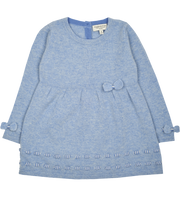 Girl - Cashmere Baby Doll Top With Bow Detail And Leggings Set