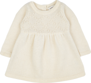 Baby Girl - Cashmere Diamond and Bobble Embroidered Baby Doll Top And Leggings Set