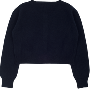 Girl - 100% Cashmere Shrug With Round Neck And Long Sleeves