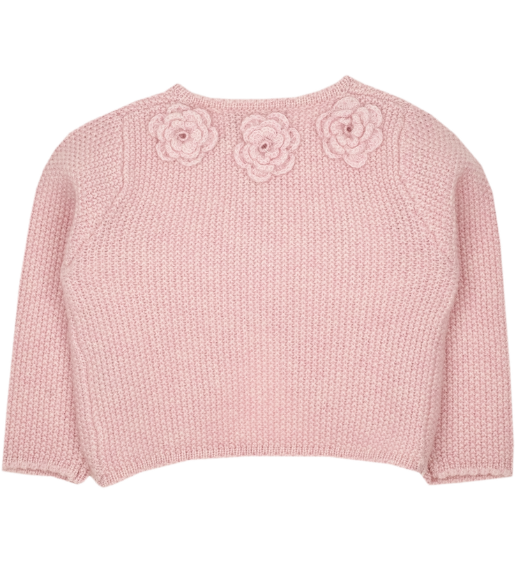 Baby Girl - Bella 100% Cashmere Cropped Cardigan