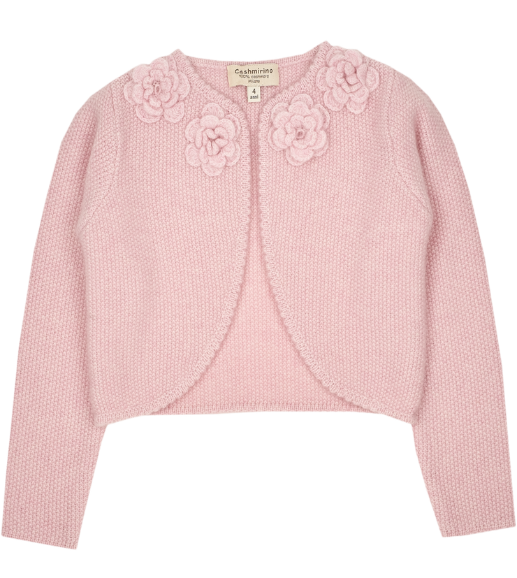 Girl - Bella 100% Cashmere Cropped Cardigan