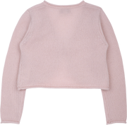 Girl - Cashmere Shrug With Roll Up Borders