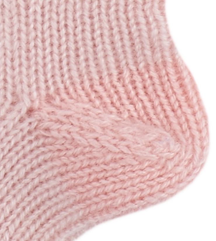 Baby Girl - Reagan Cashmere Knitted Socks With Contrasting Hem, Heel And Toe