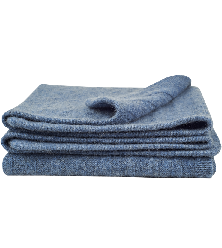 Baby Boy - Peyton 100% Cashmere Cable Knit Blanket