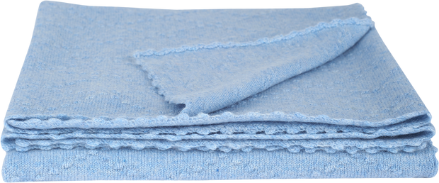 Baby Boy - Juan Cashmere Knitted Blanket With Diamond Pattern