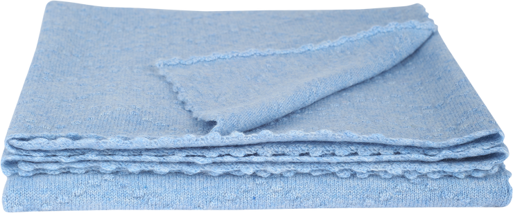 Baby Boy - Juan 100% Cashmere Knitted Blanket With Diamond Pattern