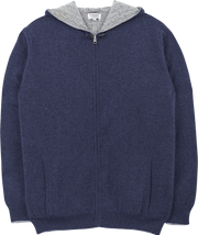 Men - Tom Cashmere Reversible Cable Knit Cardigan Hoodie