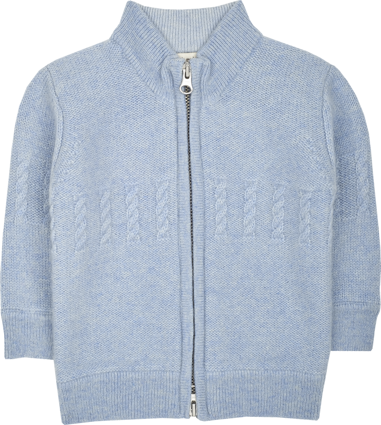 Baby Boy - Emanuele Cashmere High Neck Cardigan