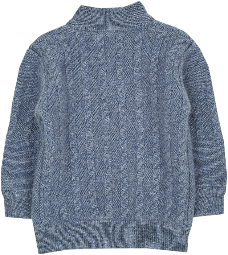 Baby Boy - Emanuele 100% Cashmere High Neck Cardigan