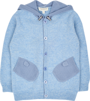Boy - Paolo Cashmere Cardigan Hoodie With Mitten Style Pockets