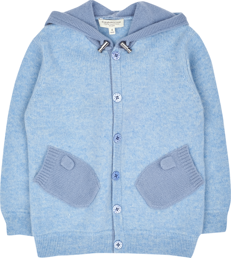 Boy - Paolo 100% Cashmere Cardigan Hoodie With Mitten Style Pockets
