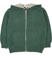 Boy - Manu Cashmere Cardigan Hoodie With Elbow Patches