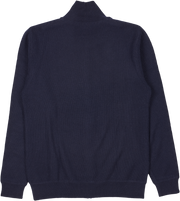 Men - Malaga Cashmere Reversible High Neck Cardigan