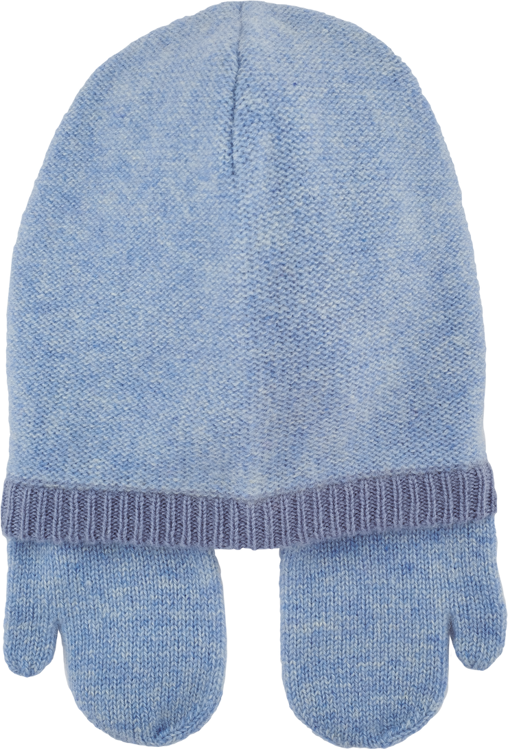 Baby Boy - Matteo 100% Cashmere Hat With Mitten Style Ear Flaps