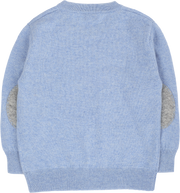 #Blue Melange l Light Grey