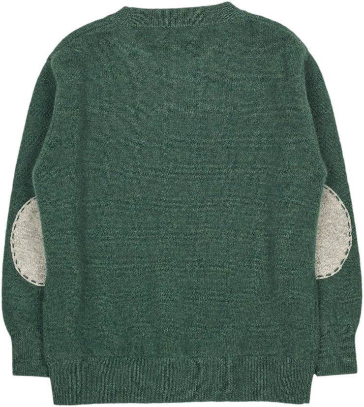 #Forest green melange l Light Grey