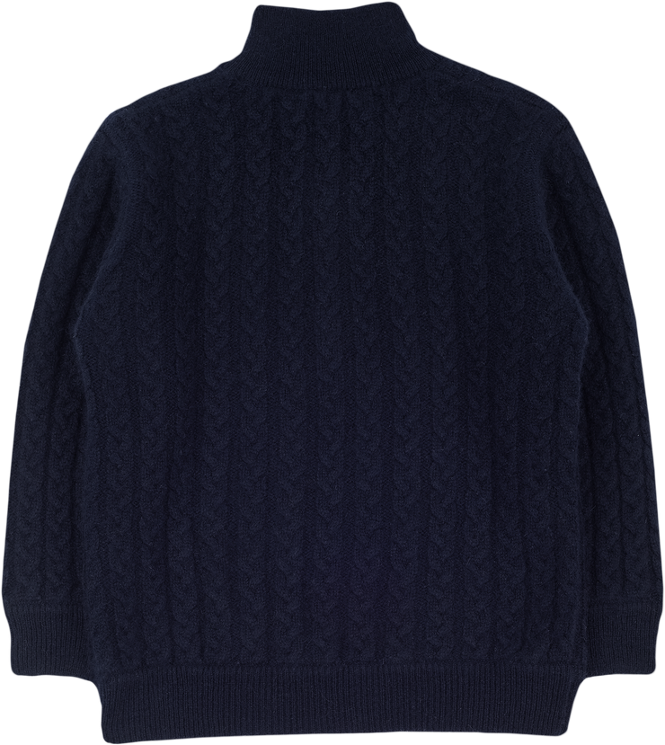 Boy - 100% Cashmere High Neck Cable Knit Jumper