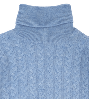 Boy - Cashmere Cable Knit Roll Neck Jumper