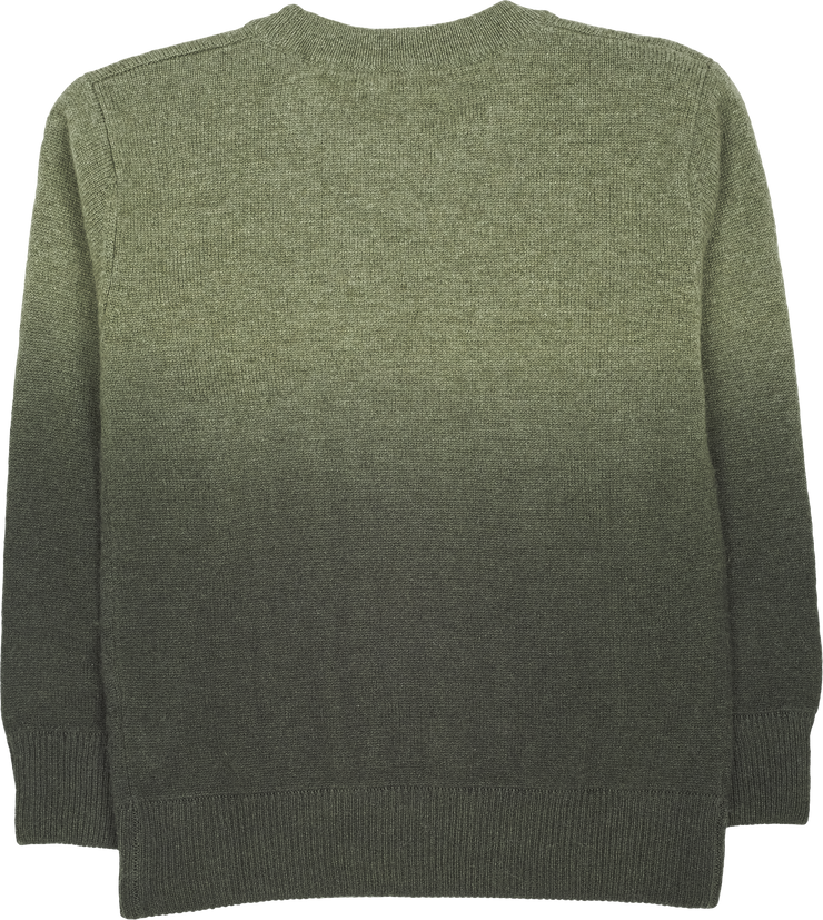 Boy - Cashmere Round Neck Jumper With Contrasting Shade