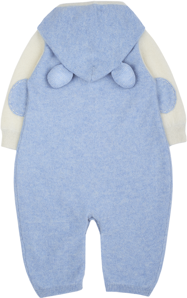 Baby Boy - Brandon Cashmere Teddy Bear Romper