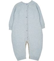 #Baby Blue Melange l Light Grey