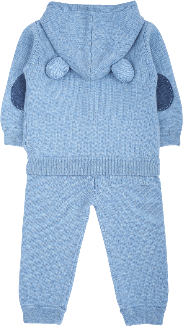 Boy - Zachary Cashmere Teddy Bear Hoodie With Matching Joggers Set