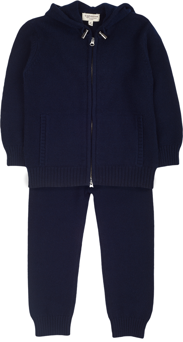 Boy - Andrea Cashmere Cardigan Hoodie With Joggers Set