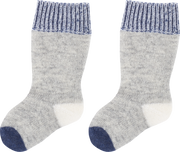 Baby Boy - 100% Cashmere Socks With Wide Vanished Borders