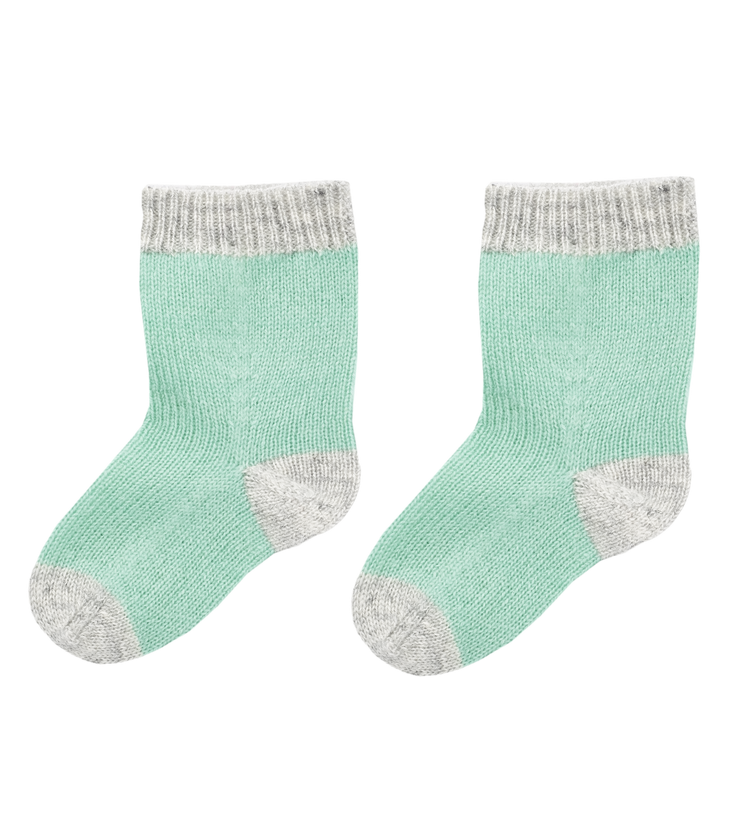 Baby Boy - Cashmere Colour Detail Socks