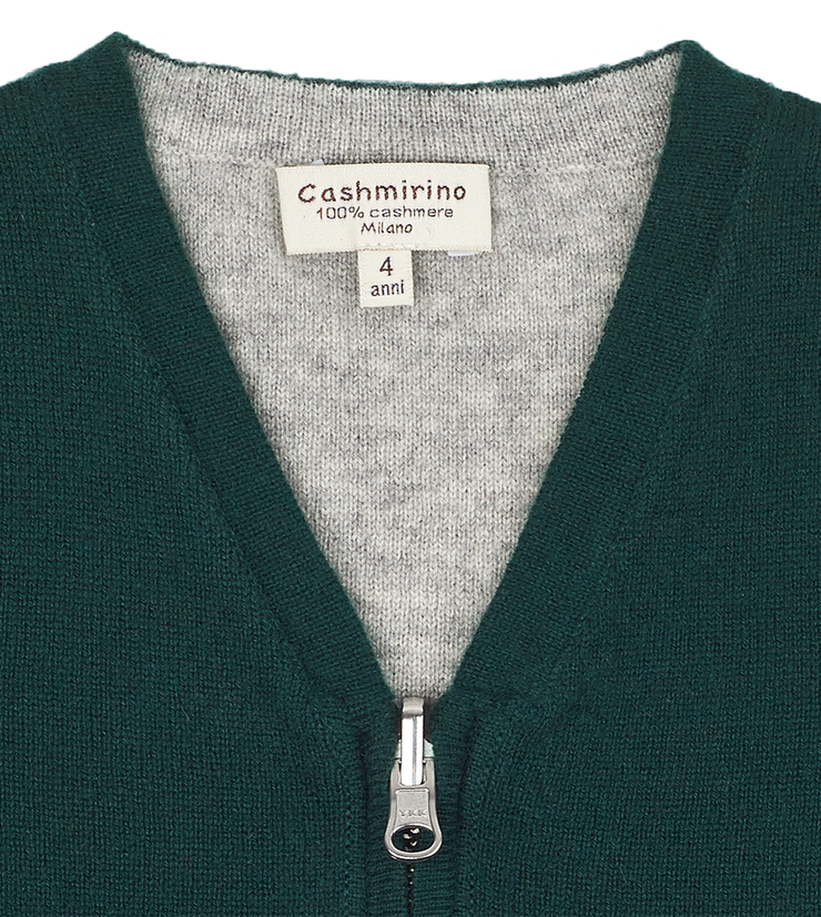 Boy - Cashmere Reversible V-Neck Sleeveless Cardigan