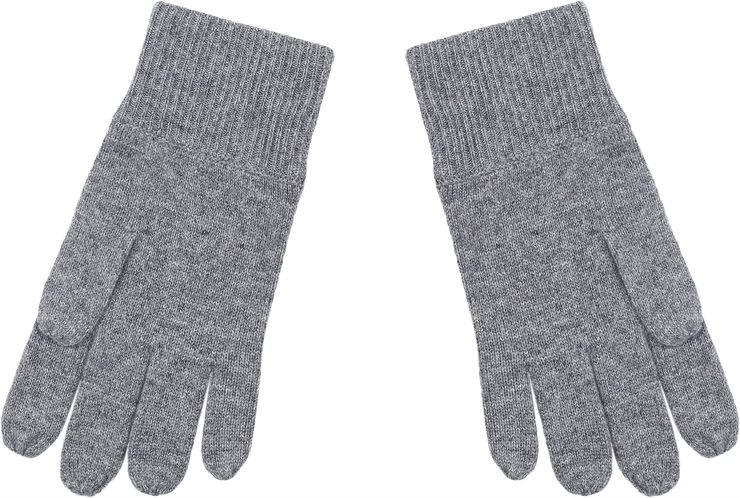 Unisex - Ashley 100% Cashmere Gloves With Ribbed Hem