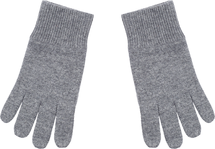 Unisex - Cashmere Gloves With Ribbed Hem