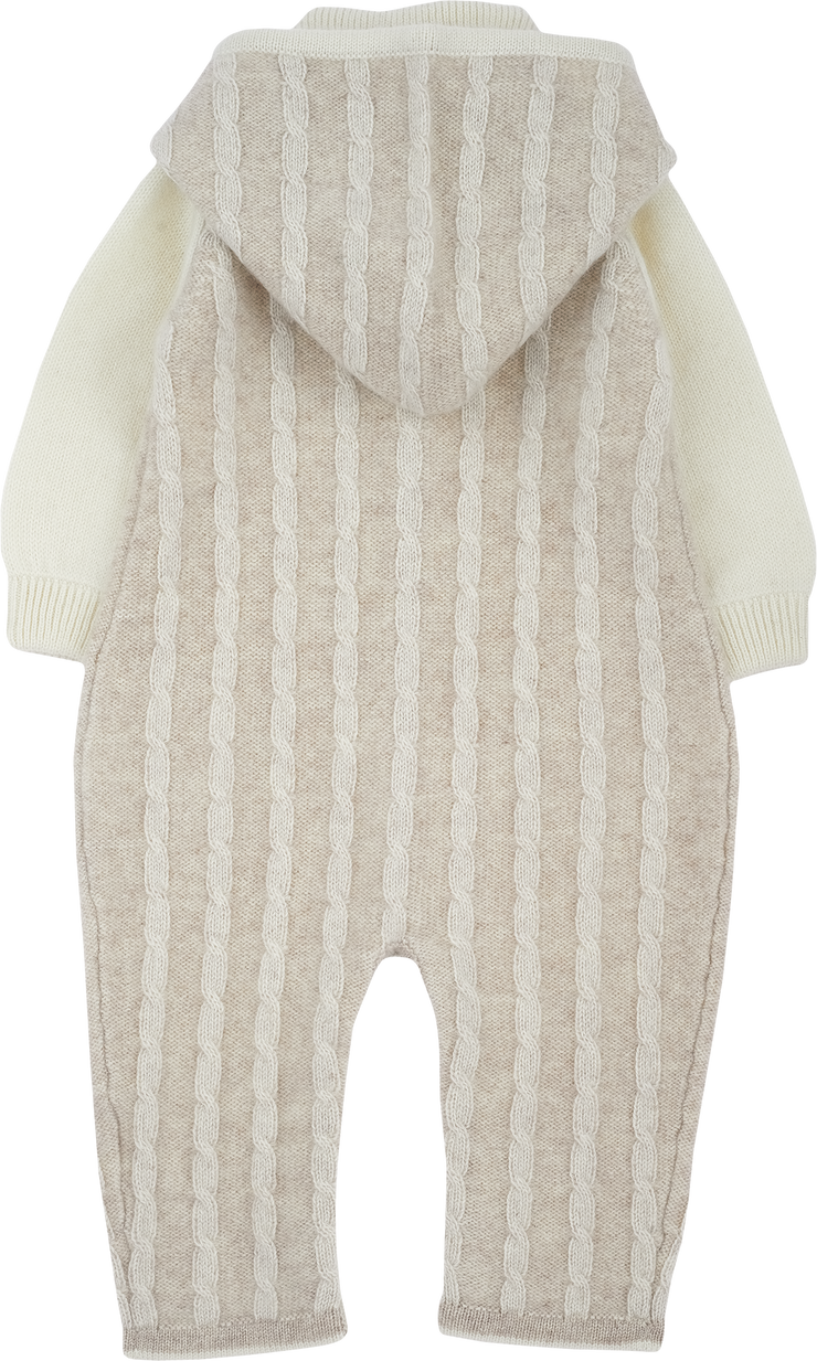 Baby Unisex - Angel Cashmere Cable Knit Romper