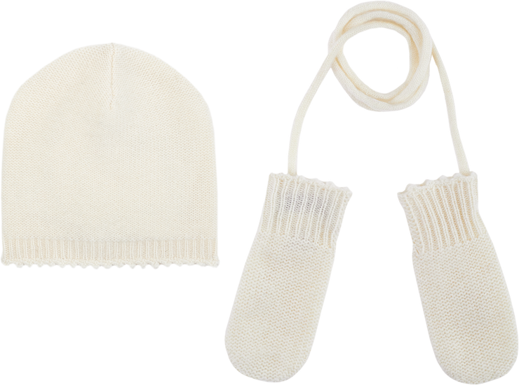 Baby Unisex - Riley Cashmere Hat And Mittens Set