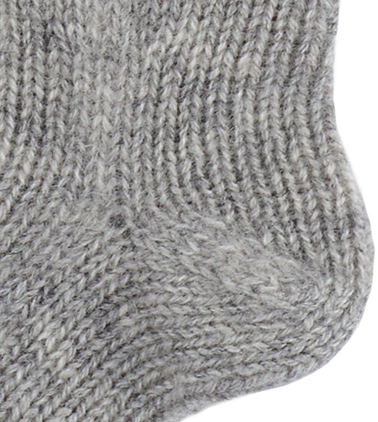 Baby Unisex - Cashmere Socks With Ribbed Hem