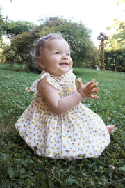 Baby Girl - Gioia Cotton Smocked Dress