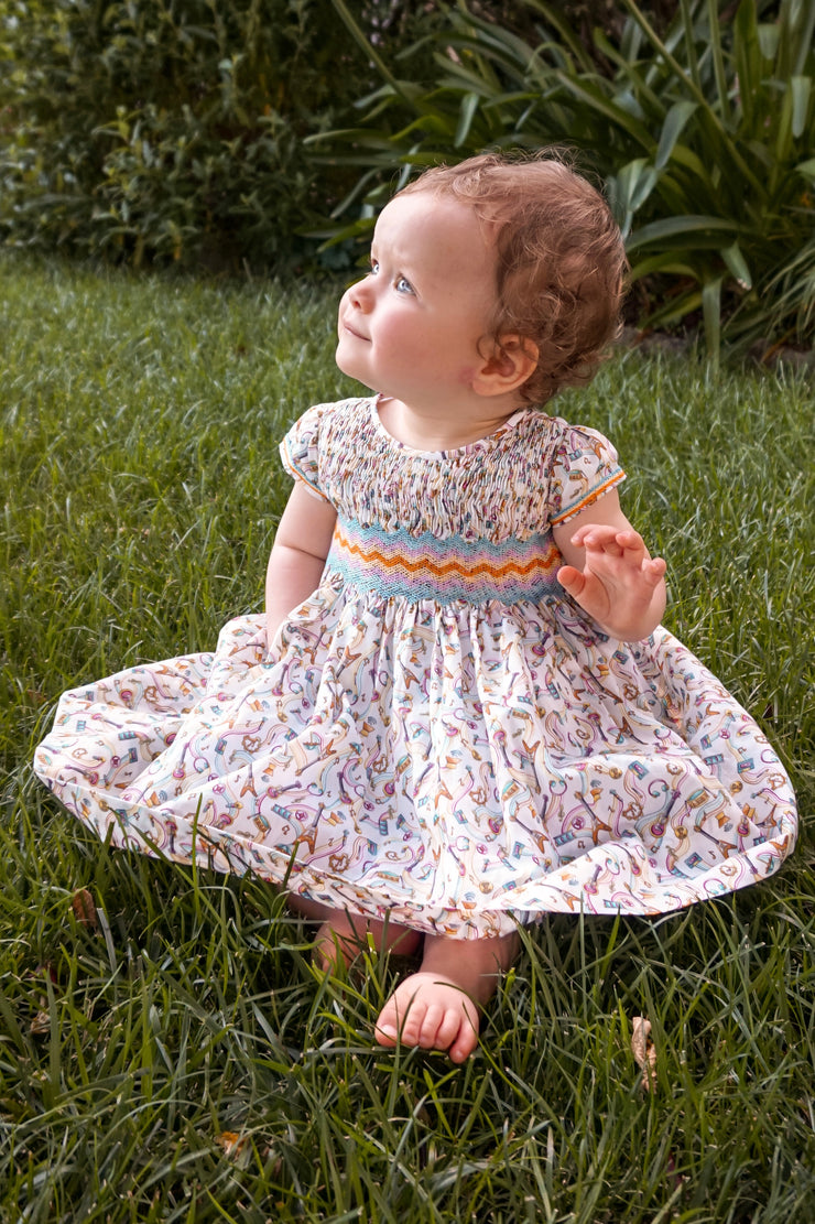 Baby Girl - Luna Cotton Smocked Dress