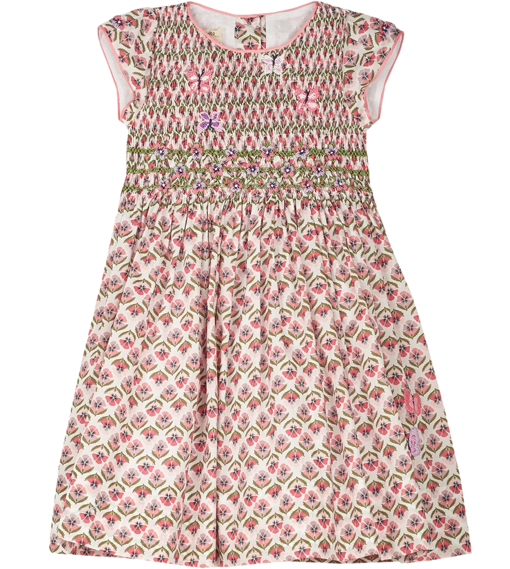 Lucia - Cotton Smocked Dress