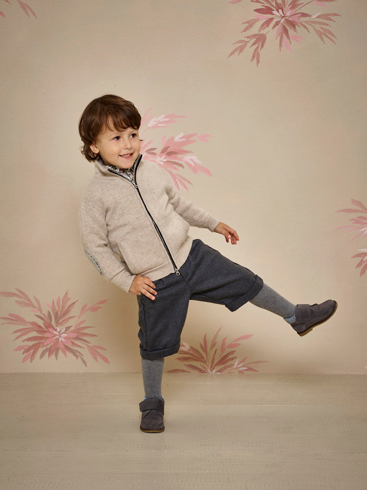 Boy - Mattia 100% Cashmere Zip-up Cardigan