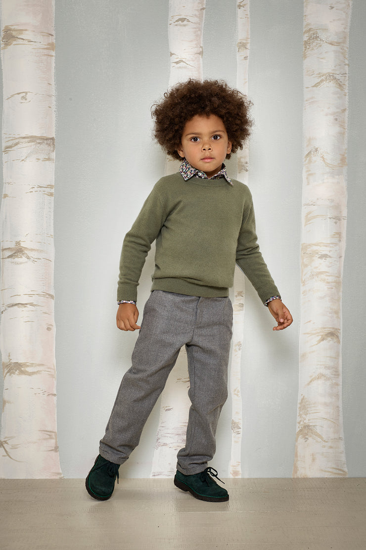 Boy - Ted 100% Wool Skinny lined Trousers