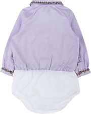 Baby Girl - 100% Cotton Bodysuit with Blouse with detailed collar and cuffs