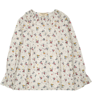 Girl - Callie 100% Cotton Blouse With Pleats and Ruffle Collar