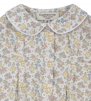 Girl - Perrie Cotton Blouse With Trim Peter Pan Collar