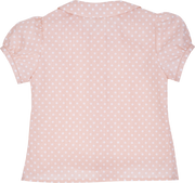 Girl - Cotton Blouse With Print And Peter Pan Collar