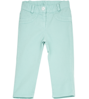 Girl - Valeria 100% Cotton Washed Capri Pants