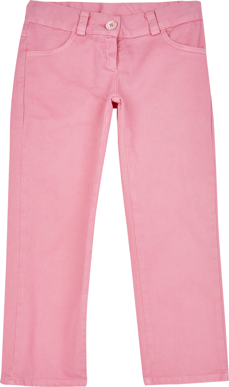 Girl - Elena Cotton Washed Jeans With Back Heart Pocket