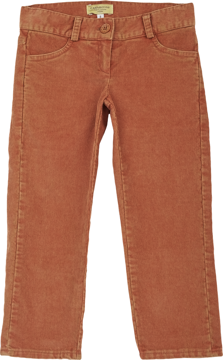 Girl - Cotton Straight Leg Corduroy Washed Jeans