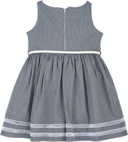 Girl - 100% Cotton Dress With Posey